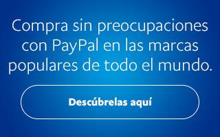 Compra sin preocupaciones con PayPal en las marcas populares de todo el mundo.
