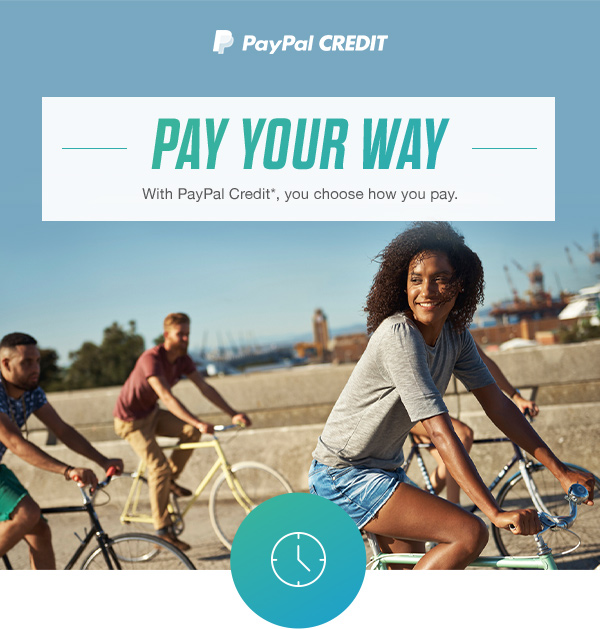 PayPal CREDIT | PAY YOUR WAY