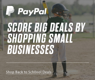 PayPal | Shop Back to School Deals | SCORE BIG DEALS BY SHOPPING SMALL BUSINESSES