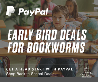 PayPal | EARLY BIRD DEALS FOR BOOKWORMS | GET A HEAD START WITH PAYPAL | Shop Back to School Deals