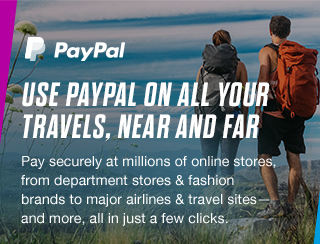 PayPal - USE PAYPAL ON ALL YOUR TRAVELS, NEAR AND FAR