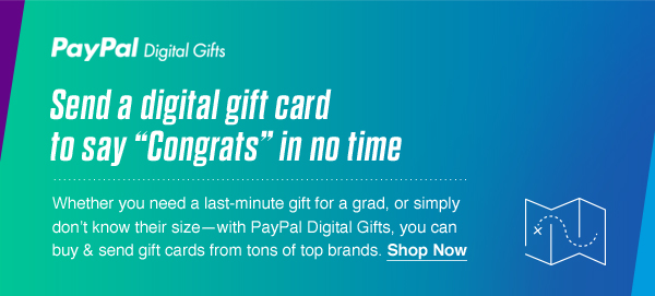 Send a digital gift card to say