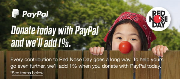 Donate today with Paypal and we'll add 1%