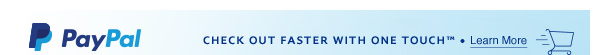 CHECK OUT FASTER WITH ONE TOUCH(TM) . Learn More