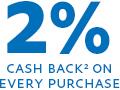 2% cash back*